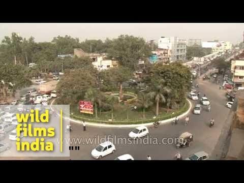 Heavy traffic in Faridabad, Haryana