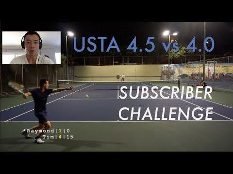 SUBSCRIBER CHALLENGE | Tennis with Raymond - 4.5 vs 4.0 Singles Highlights + Analysis