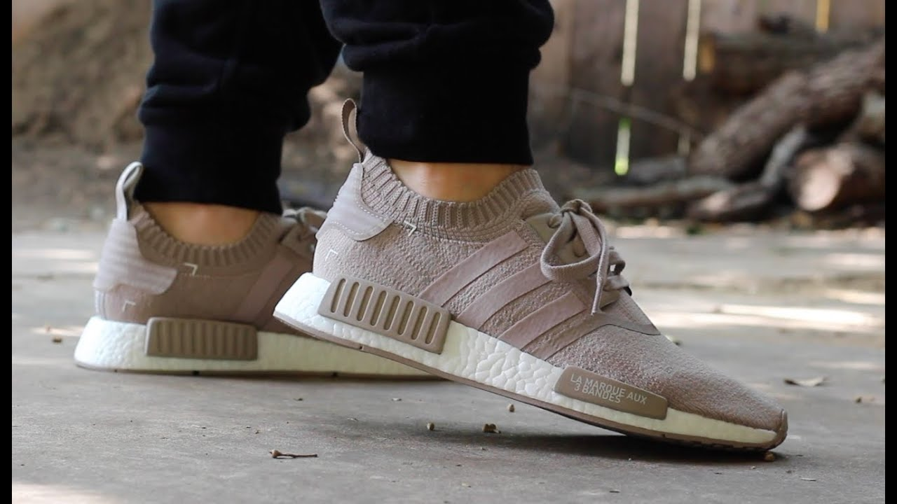 Adidas Nmd R1 Pk Quot French Beige Quot On Feet Youtube