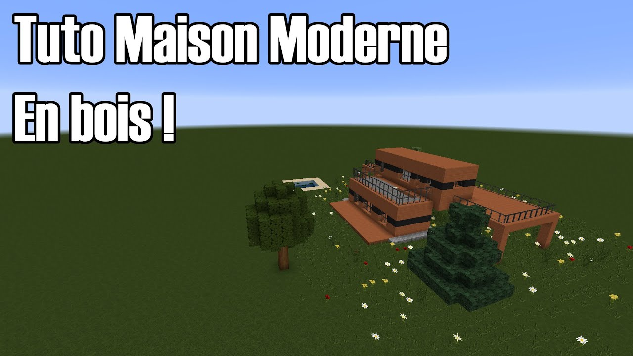tuto fr minecraft construction dune maison moderne 2 en bois 181 - Maison Moderne Bois