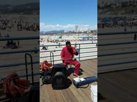 Amazing erhu (Chinese violin) at Santa Monica pier