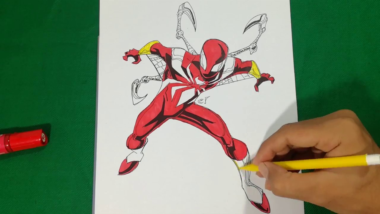 IRON SPIDER When Was A Kid Coloring Pages SAILANY Coloring Kids ...