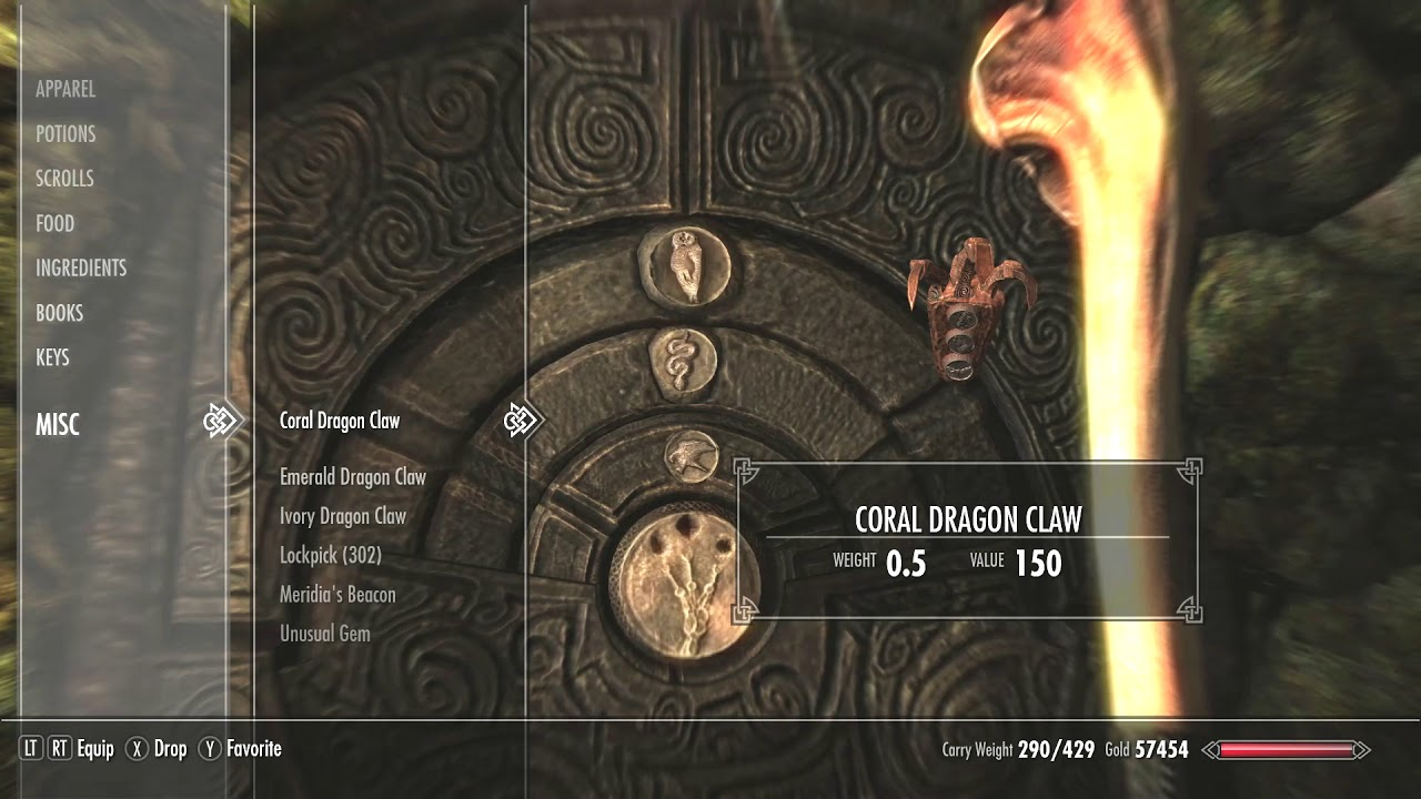 How to get and use Emerald Dragon Claw - Skyrim
