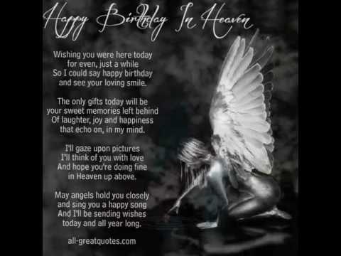 Sending Birthday Wishes To Heaven