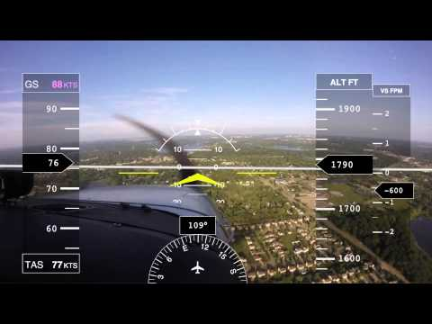 Touch and Gos at PTK with Glass Cockpit Overlay - 7/13/15