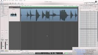 Logic Pro 9. Редактирование аудио. Урок 3 [Logic Pro Help]