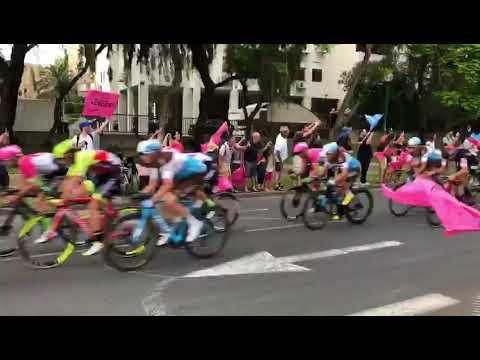 Giro d'Italia cycling grand tour - Tel Aviv, Israel - entering the city. May 2018