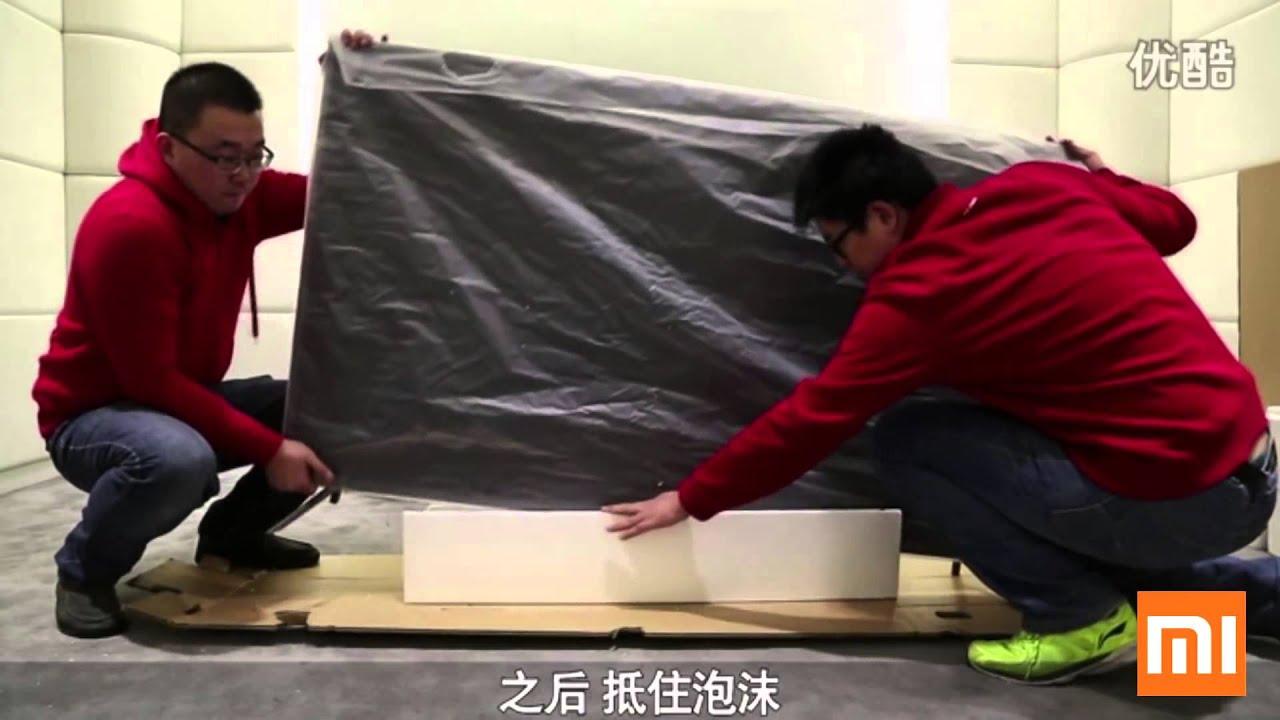 Распаковка и установка телевизора Xiaomi Mi TV3 70 дюймов - YouTube