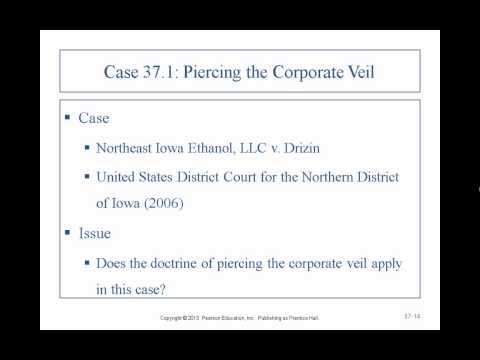Business Law II - Professor Sharma (Lecture 7, Chapter 37 -