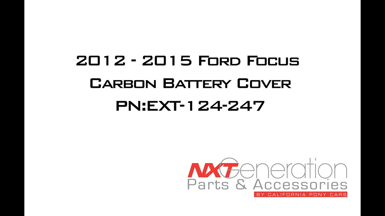 2012 15 ford focus carbon battery cover install youtube 2012 15 ford focus carbon battery cover install sciox Image collections