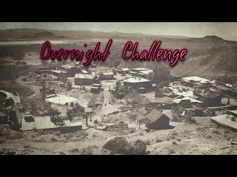 24hr Overnight Challenge in an Abandoned Arizona Ghost Town. My Friend Fell Through a Floor