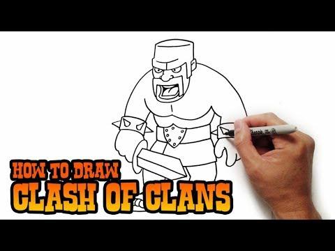 طريقة رسم بربري كلاش أوف كلانس How To Draw Barberian Youtube