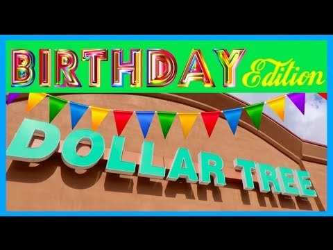 Cheap Birthday Party Decorations from DOLLAR STORE!!!
