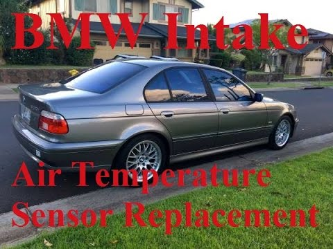 Intake Air Temperature Sensor >> BMW intake air temperature sensor replacement - YouTube