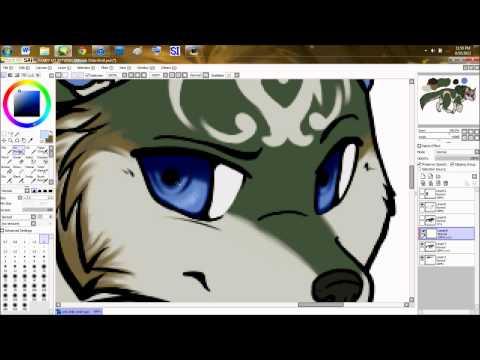 Wolf Link Chibi Speedpaint Paint Tool SAI