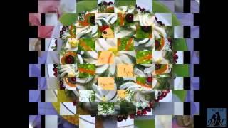 Смотреть Рецепты Салаты. Салат Из Свеклы И Моркови, С Грецким Орехом, С Чесноком. Кулинария На