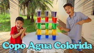 NÃO PEGUE O COPO ERRADO COM ÁGUA COLORIDA! Brincadeiras Divertidas e Engraçadas com o Rafael