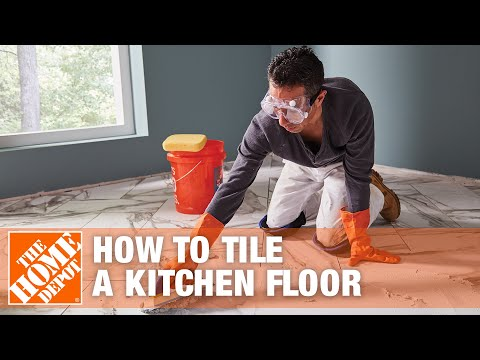 How To Tile A Kitchen Floor Part 1 The Home Depot Youtube