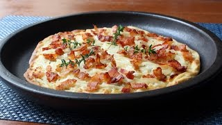 Tarte Flambée - Alsatian Bacon & Onion Tart -...