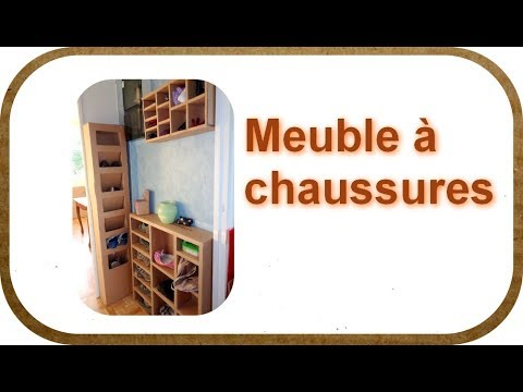 les cartons de sophie comment faire un meuble chaussures c 39 est la rentr e youtube. Black Bedroom Furniture Sets. Home Design Ideas