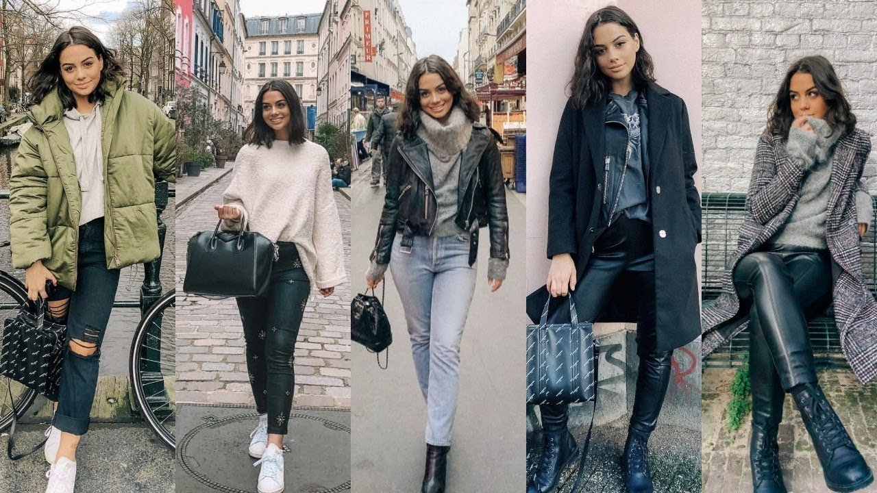 8 WINTER STREET STYLE OUTFITS | LOOKBOOK - YouTube