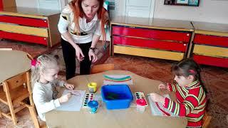 Видео - урок по  нетрадиционному рисованию для детей 4 - 5 лет
