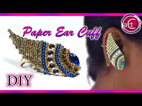 DIY : Paper Ear Cuff   Earring   Paper Jewelry   Art with Creativity 256