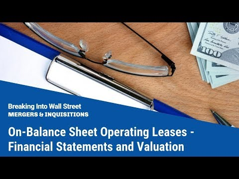 On-Balance Sheet Operating Leases - Financial Statements and Valuation