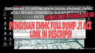 PENGISIAN full dump EMMC J1 ACE RESIZE INTERNAL 4GB KE 8GB