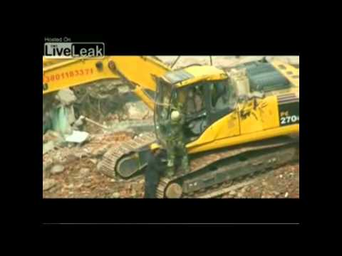 Demolition Of A Building From The Bottom - Construction Epic Fails