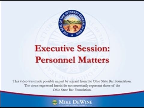 Executive Sessions to Discuss Personnel Matters