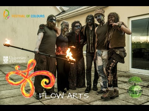Glasgow University Flow Arts Fire Show (Holi Festival, Krishna Eco Farm)