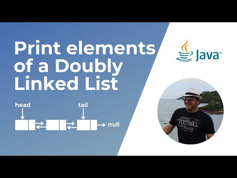 How To Print Elements Of A Doubly Linked List In Java ?