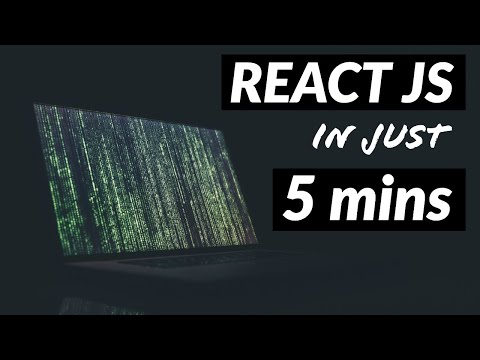 REACT JS in just 5 MINUTES (2020)