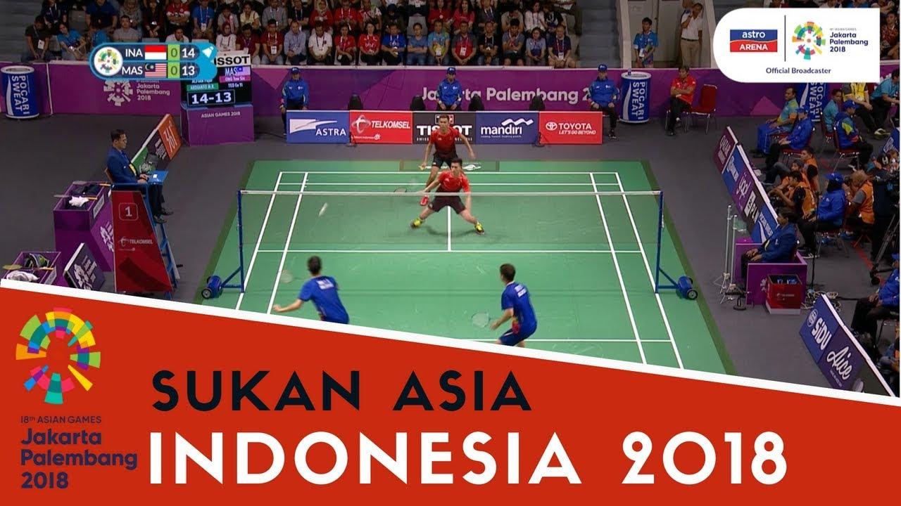 Sukan Asia Indonesia Badminton Ong Yew Sin Ee Yi Teo Mas Lwn Ina Beregu Lelaki Youtube