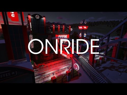 Onride (night) - The Duel - Foxy's Racing Track Planet Coaster