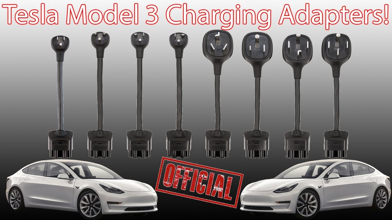*OFFICIAL* Tesla Model 3 Charging Adapters! 50K off Model X P100DL!
