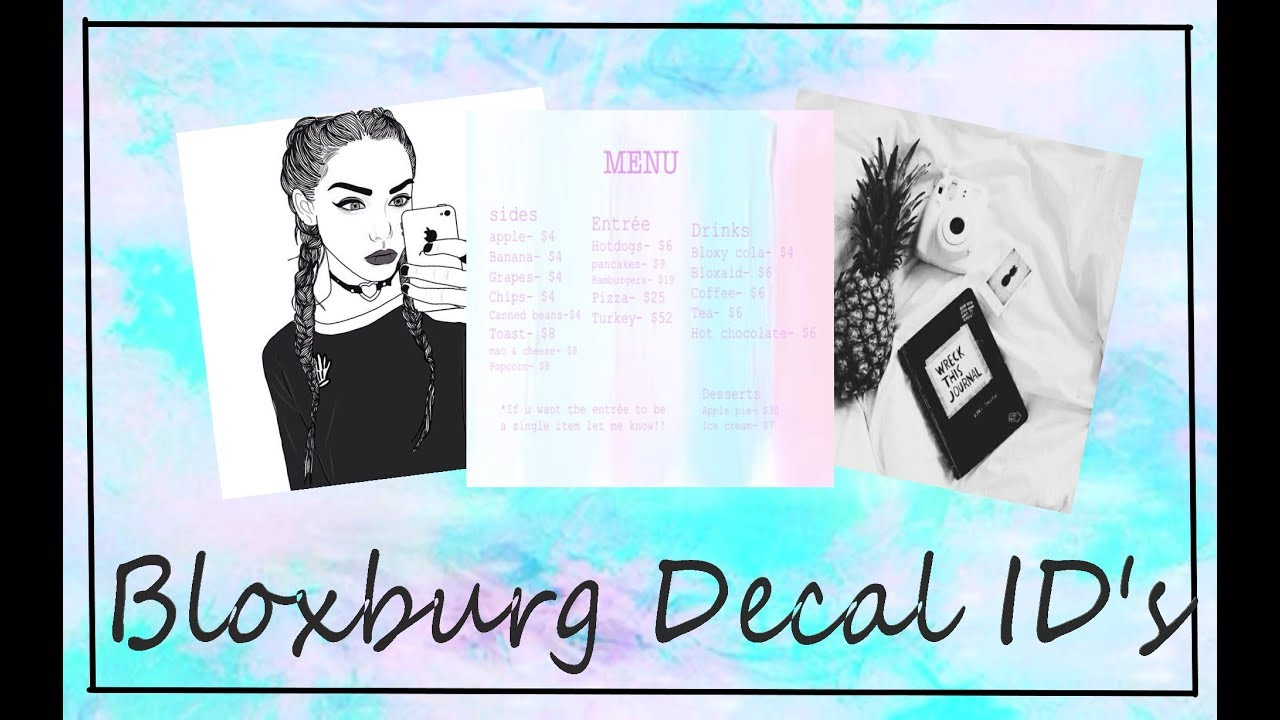 Bloxburg decal ids