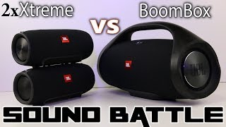 JBL Boombox vs 2x JBL Xtreme :SoundBattle.