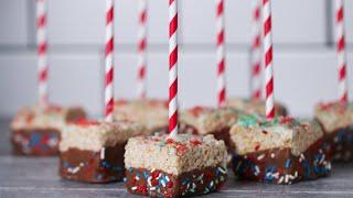 Firecracker Crispy Marshmallow Pops