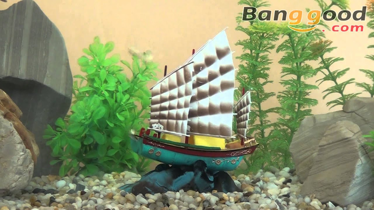 Chinese ship action air aquarium decoration ornament 0 95 for Aquarium airplane decoration