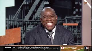 "Stephen A. Smith STRONG REACT Magic Johnson gives ""Lakers could trade LeBron James"""