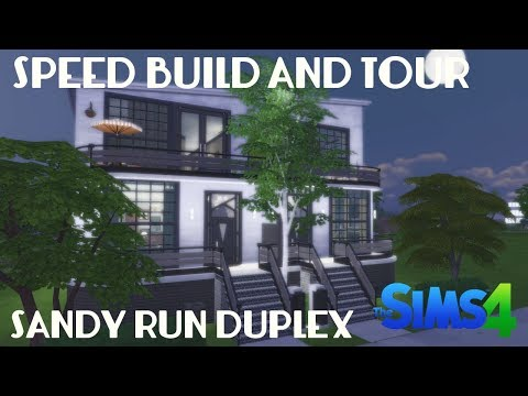 The Sims 4: Speed Build and Tour - Sandy Run Duplex