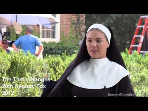 "Kate Upton ""Sister Bernice"" HD Interview The Three Stooges ..."