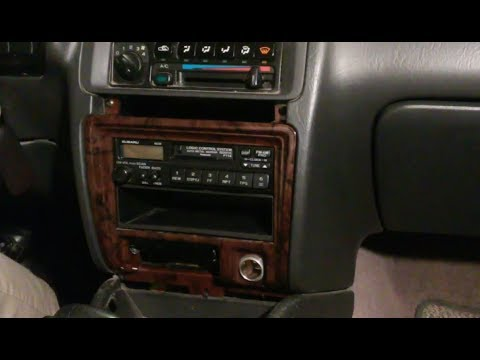 1997 Subaru Outback Radio Wiring Diagram Parallel For Recessed Lights 95 99 Remove And Replace Youtube