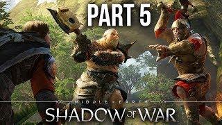 MIDDLE EARTH SHADOW OF WAR Gameplay Walkthrough Part 5 - NO MAN