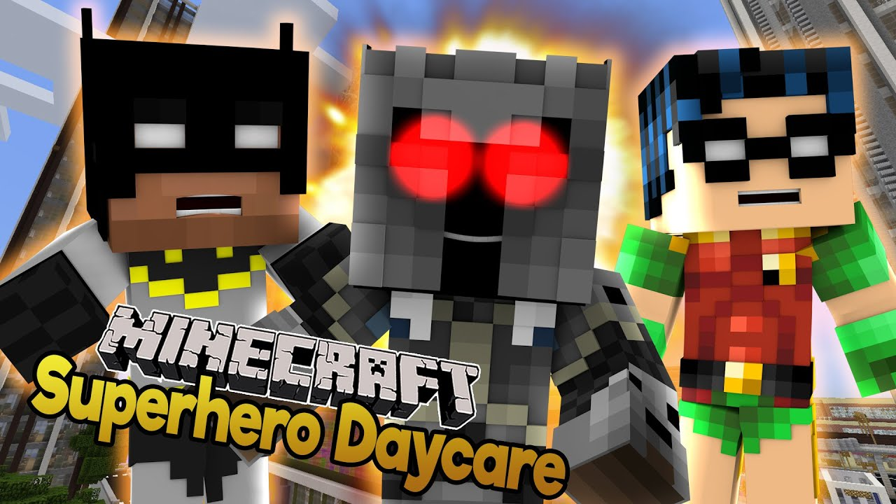minecraft evil popularmmos giant baby batman and robin