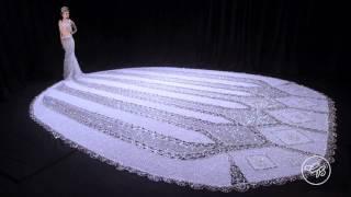 "World's Largest Beaded Wedding Dress: Gail Be Designs ""Fantasy"""