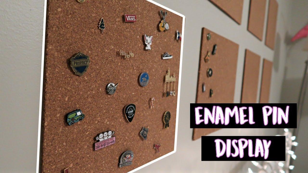 NEW ENAMEL PIN DISPLAY | vlogmas