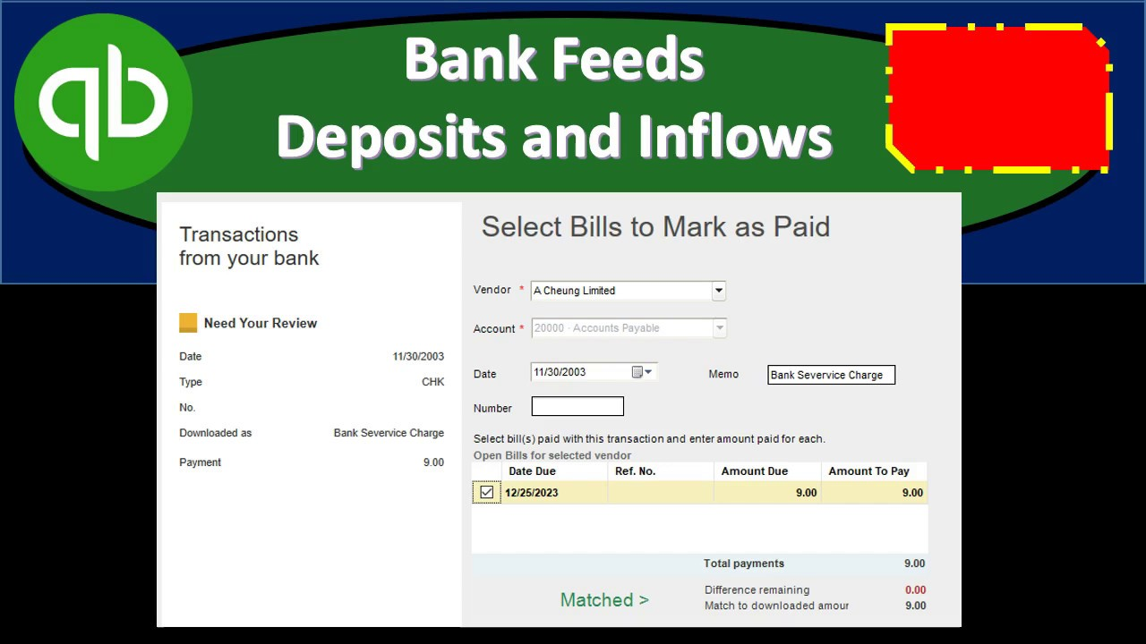 Bank Feeds Deposits and Inflows QuickBooks Pro Desktop 2019
